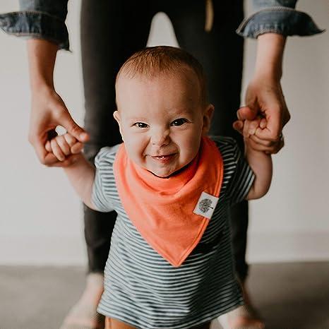 Amazon.com: Parker Baberos bandana para bebés, 8 unidades ...