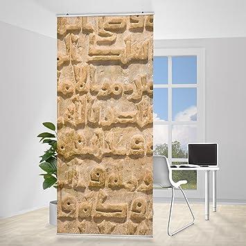 Design Raumteiler Flachenvorhang Schiebevorhang Arabische Schrift