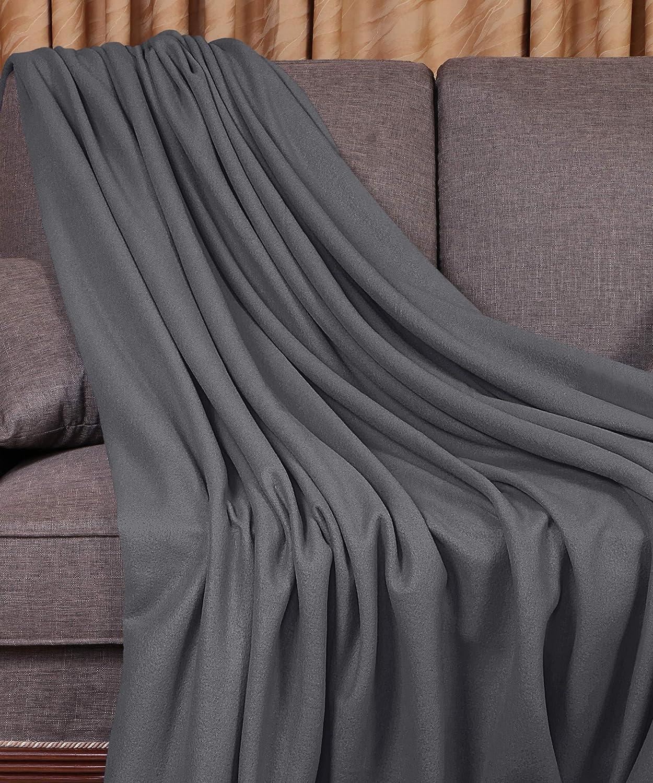 King, Grey Extra Soft Brushed Microfiber Utopia Bedding Polar Fleece Premium Bed Blanket