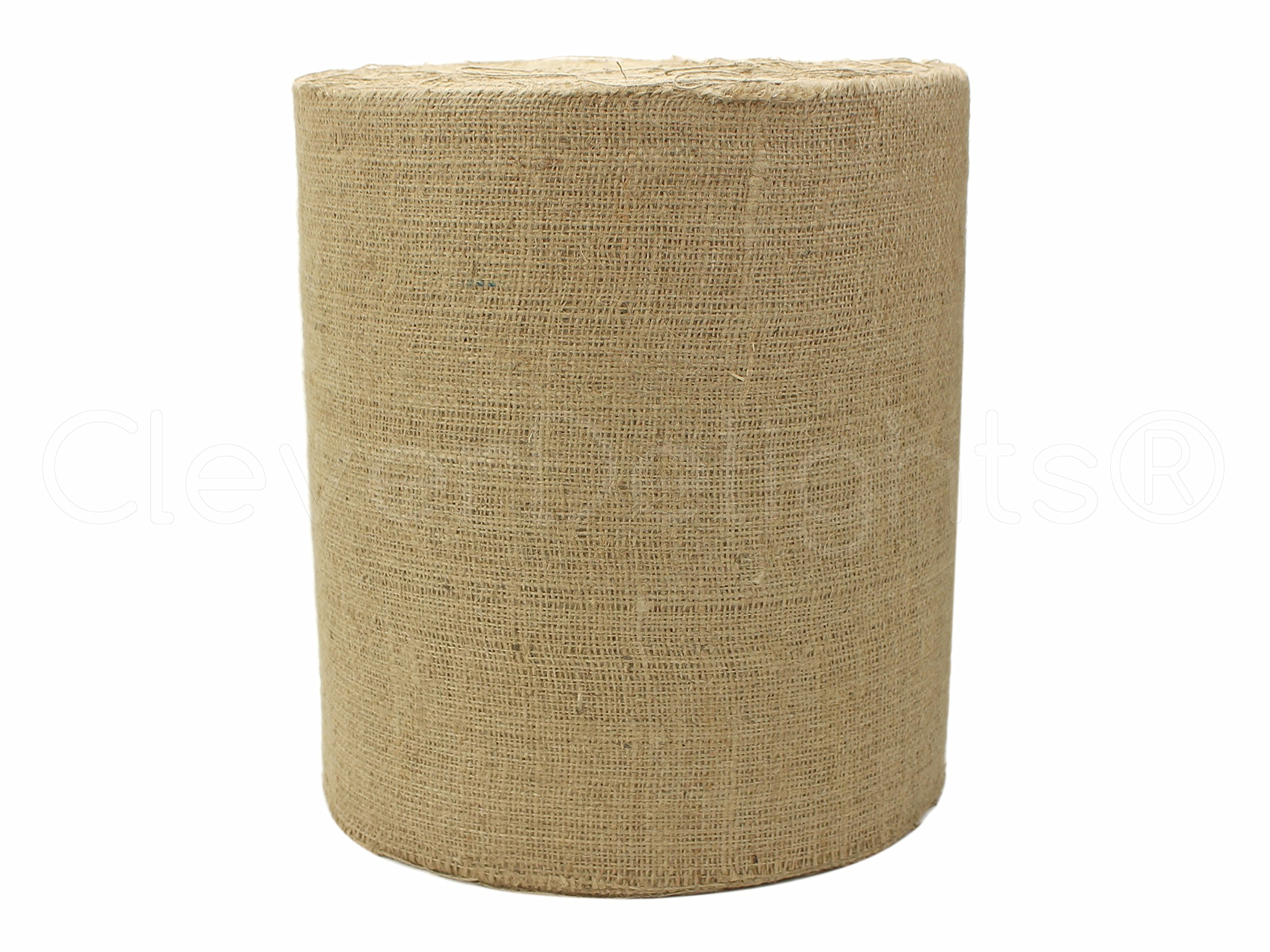 CleverDelights 12'' Natural Burlap - Industrial Grade - 100 Yard Roll - Tight-Weave Jute Burlap Fabric
