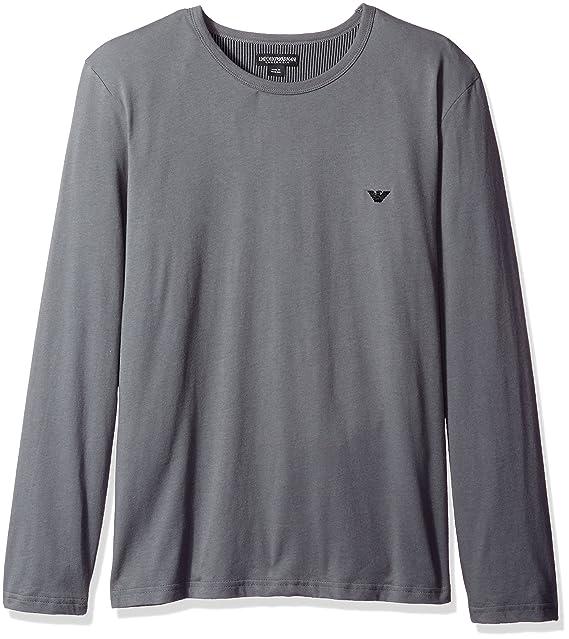Emporio Armani - Camiseta de Manga Larga - para Hombre Antracita L