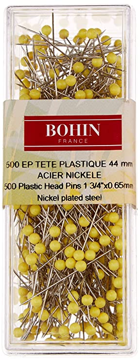 Bohin Yellow Head Quilting Pin Size 28-1 3//4in 500ct