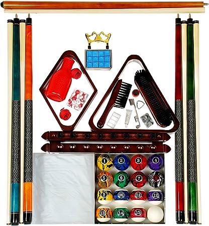 Billar mesa de billar Kit de accesorios w/oscuro mármol estilo ...
