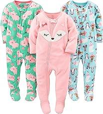 Simple Joys por Carter 's Girls' Paquete de 3Resistente al Fuego Forro Polar Pijamas con