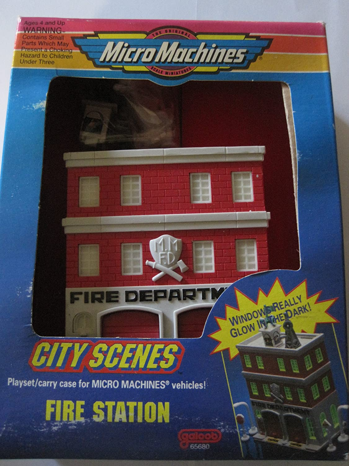 Micro Machines City scenes playset//carry case for micro machines Vehicles Fire Station