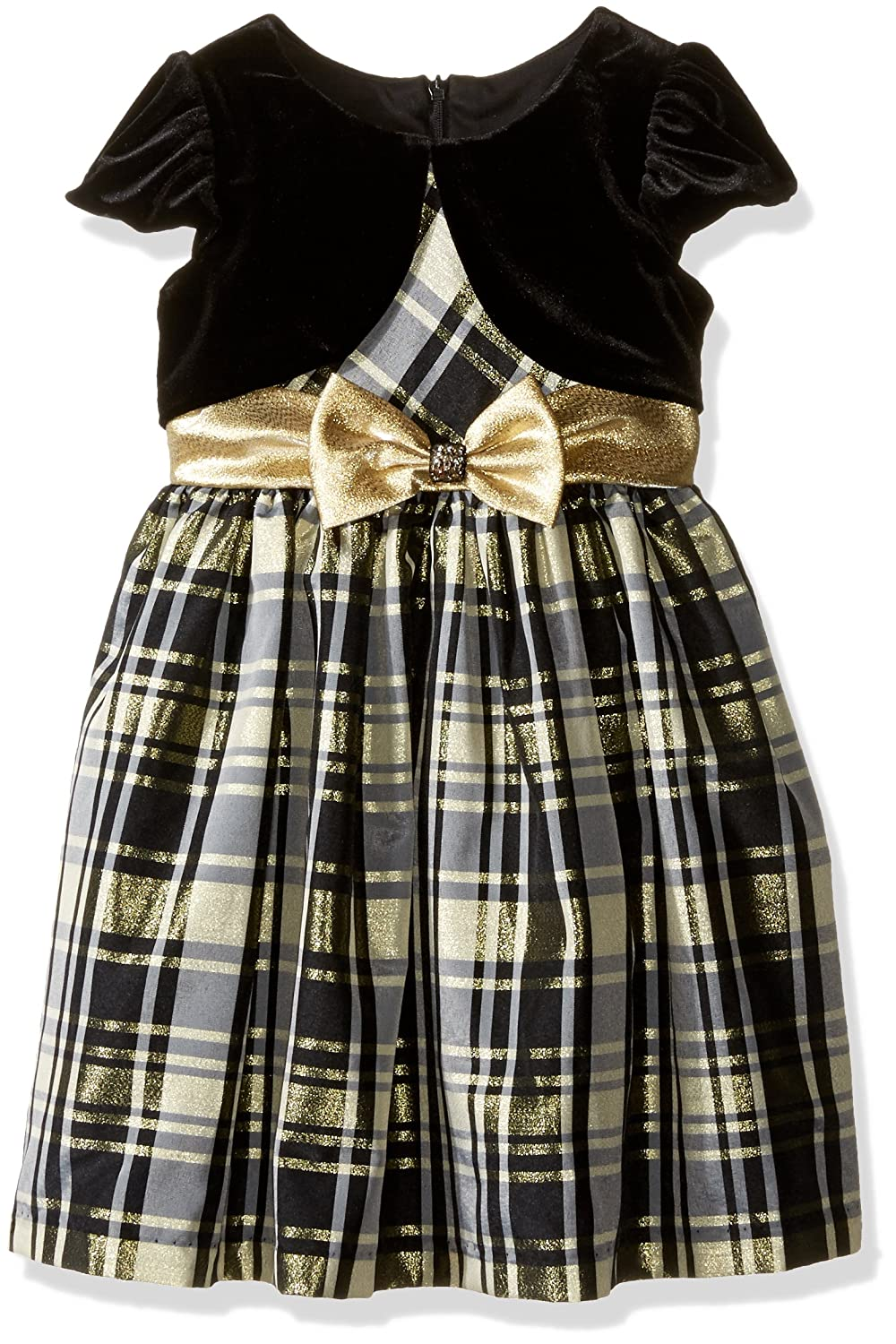 Kids 1950s Clothing & Costumes: Girls, Boys, Toddlers Bonnie Jean Girls Taffeta Plaid Cardigan Dress $47.50 AT vintagedancer.com
