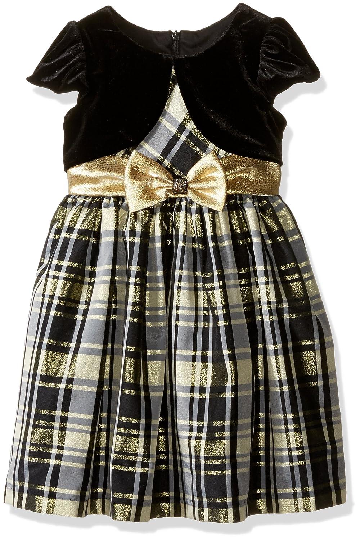Vintage Style Children's Clothing: Girls, Boys, Baby, Toddler Bonnie Jean Girls Taffeta Plaid Cardigan Dress $47.50 AT vintagedancer.com