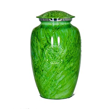 Green Marble Band Adult Cremation Urn
