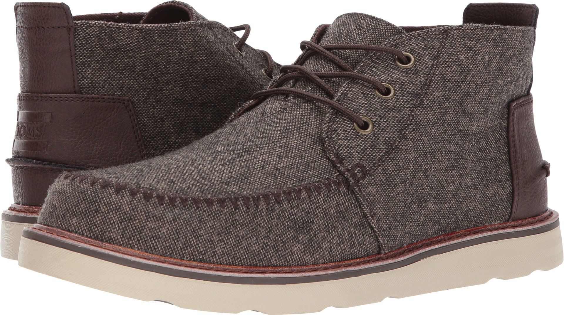 TOMS Men's Chukka Boot Chocolate Brown Brushed Wool 11 D US