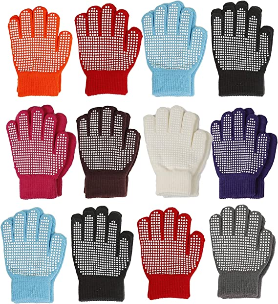 Boys Black Winter Magic Gloves With Rubber Print Design 3 Up to 12 years