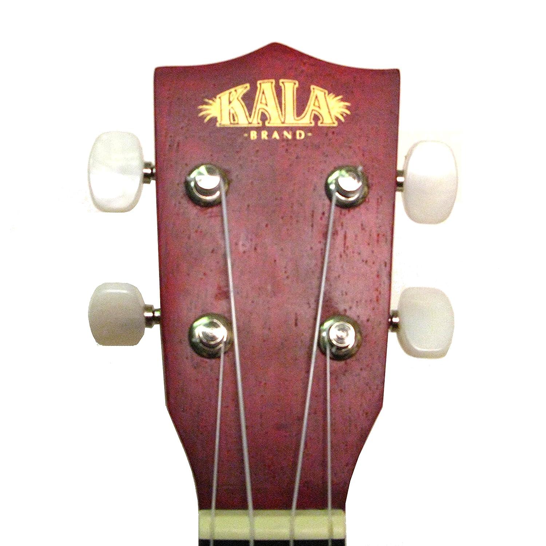 kala mahogany ka 15s rle soprano ukulele red