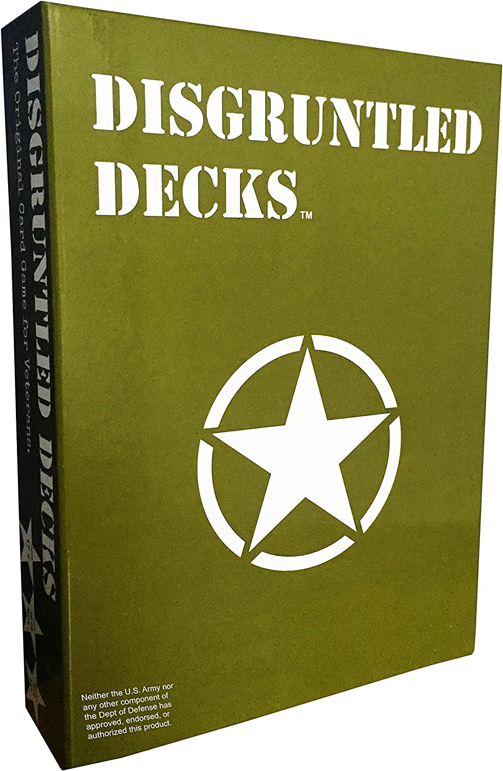 """Disgruntled Decks - The Original Military Party Card Game for Veterans - """"Army-themed"""" Deck"""