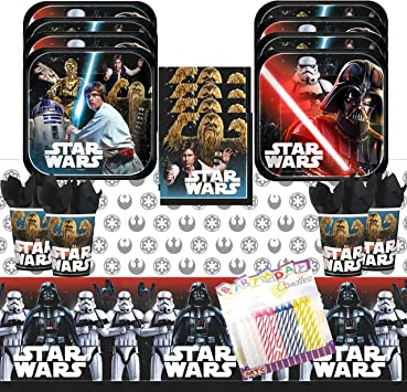 Amazon.com: Classic Star Wars Party Supplies Pack sirve 16 ...