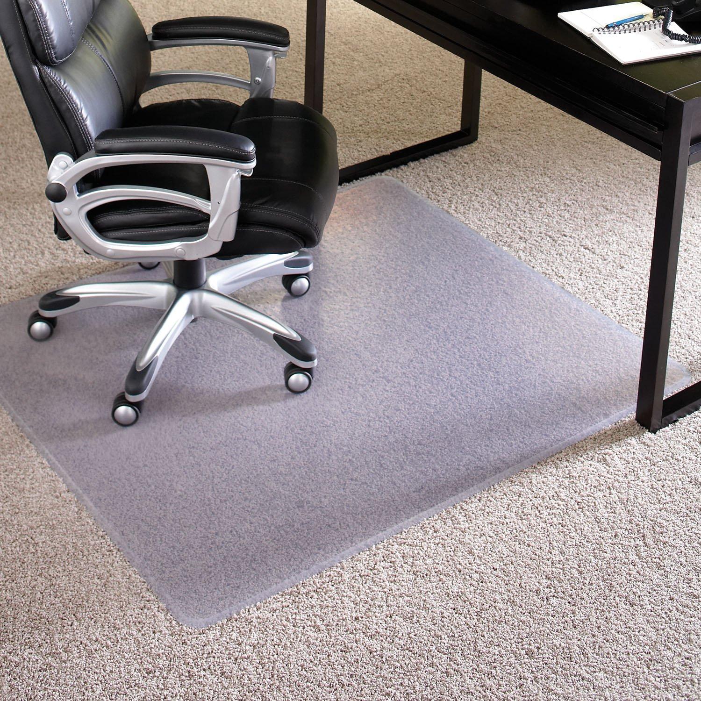ES Robbins 124381 Chair Mat Extra-High Pile Carpet, 46''x60'', Beveled Edge by ES Robbins