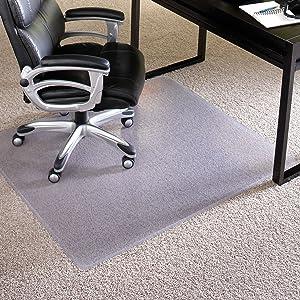 """ES Robbins Chair Mat Extra-High Pile Carpet, 46""""x60"""", Beveled Edge"""