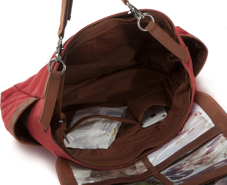 44 x 30,5 x 9 cm Cntmp Babytasche Handtasche Damen Wickeltasche Buggy-Tasche B x H x T PHIL+SOPHIE Diaper Bag