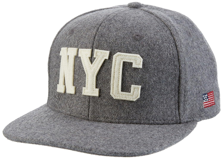 Schott NYC Men's Wool Cap Felt Logo Visor Black One Size CAPWOOL