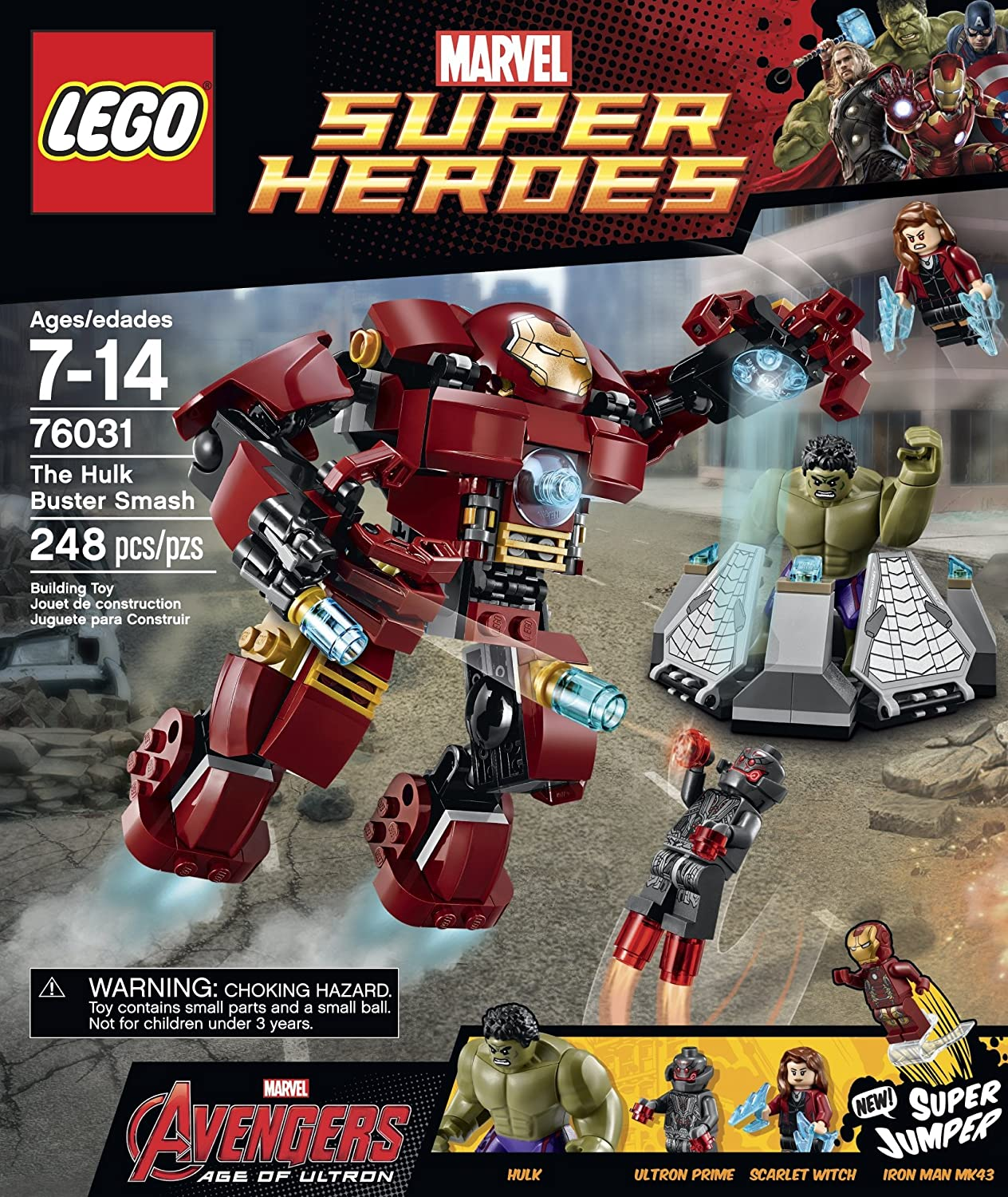 LEGO Marvel Super Heroes Avengers: Age of Ultron The Hulk Buster ...