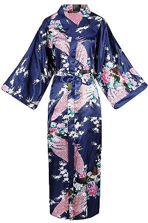 Babeyond Kimono Dressing Gown Peacock Kimono Robe For Women Wedding