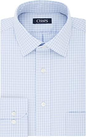Chaps - Camisa de vestir para hombre (ajustable), color liso ...