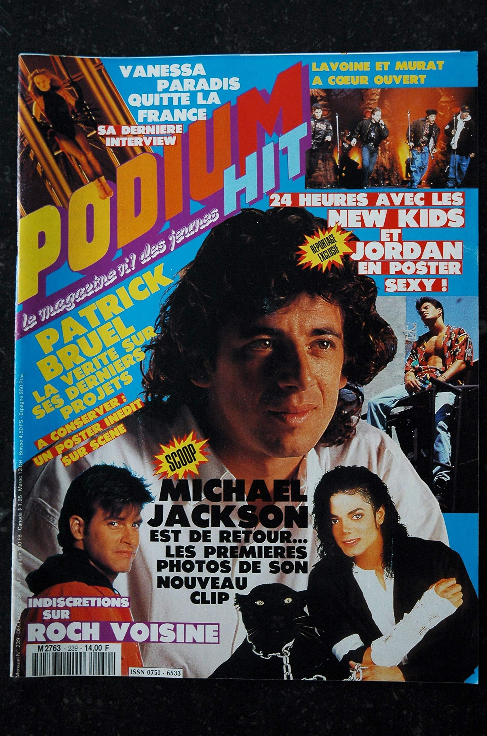 Podium Hit 239 Decembre 1991 Michael Jackson Vanessa Paradis Roch Voisine Patrick Bruel Marc Lavoine Enzo Enzo Les Tresors D Emmanuelle 3701315978264 Amazon Com Books