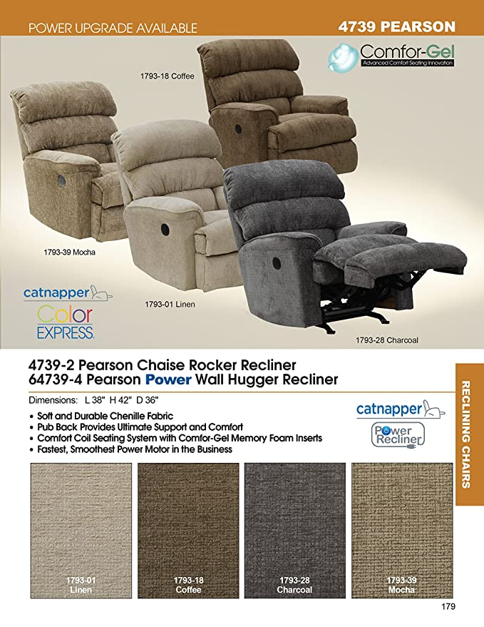 Amazon.com: catnapper Pearson poliéster chaise Rocker ...