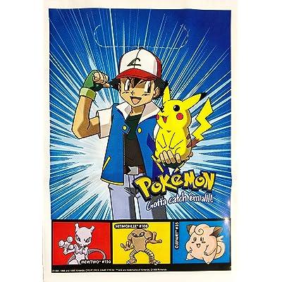 Pokemon Pikachu & Ash Party Favor Treat Bags (8 Count): Toys & Games
