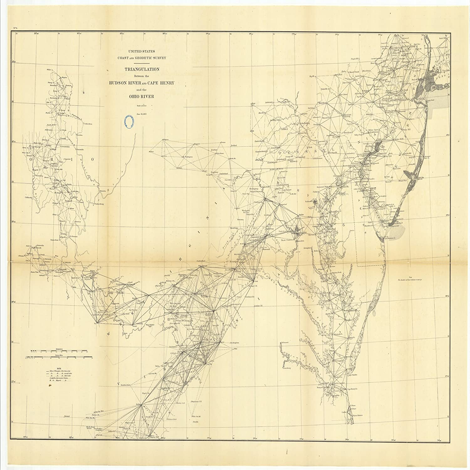 Amazon.com: Vintography c.1883 18 x 24 Reproduction Old Map ...