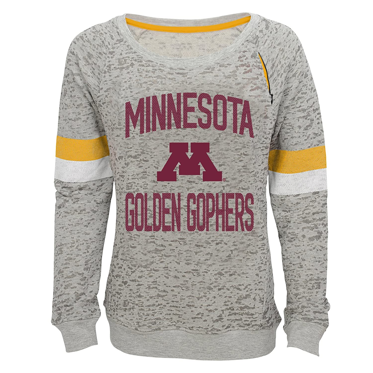 14 NCAA by Outerstuff NCAA Minnesota Golden Gophers Youth Girls My City Boat Neck Pullover Youth Large Heather Grey