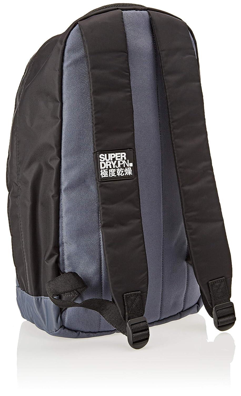 Superdry - Academy Freshman, Mochilas Hombre, Negro (Black/Grey), 33x43x10 cm (W x H L): Amazon.es: Zapatos y complementos