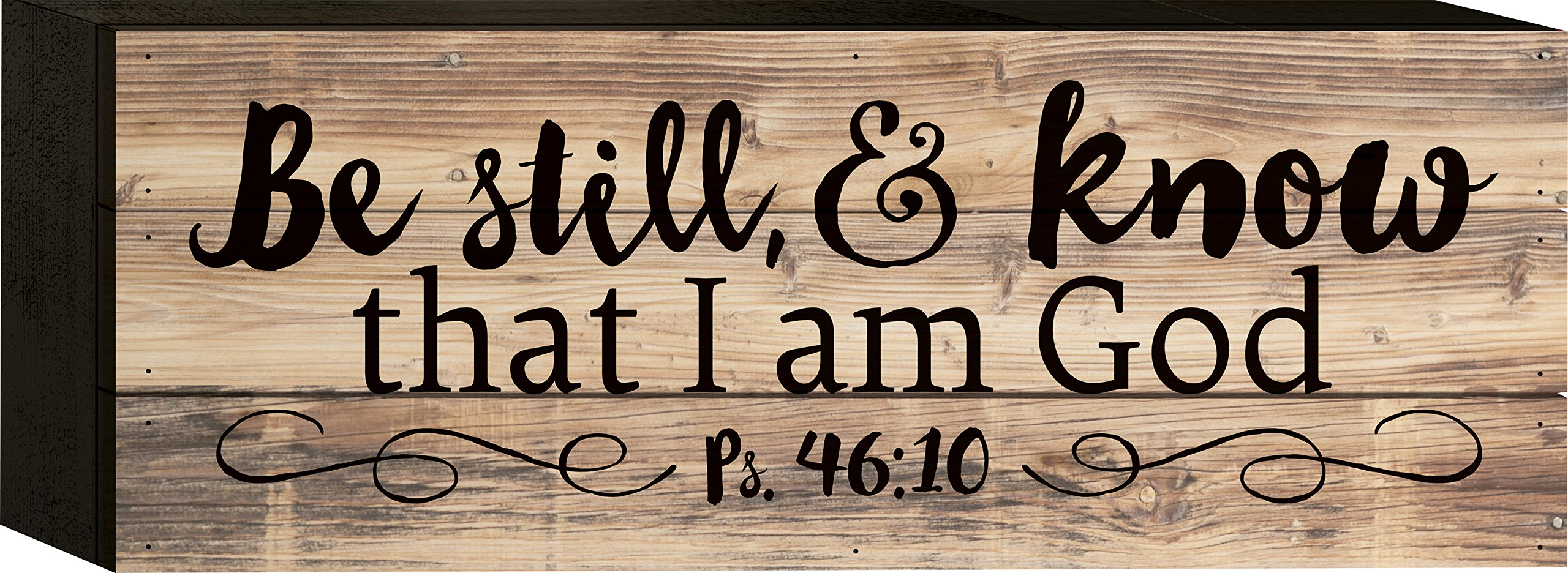 Be Still & Know Psalm 46:10 5 x 12 Wood Block-Style Wall Art Sign Plaque