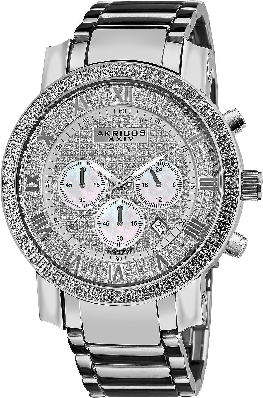 Akribos XXIV Men s AK439SS Grandiose Diamond Chronograph Watch