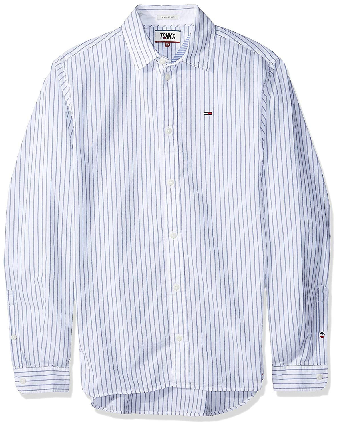 Tommy Jeans Hombre Essential Striped Camisa Manga Larga