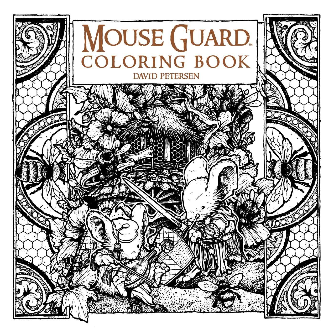 amazon com mouse guard coloring book 9781608869299 david