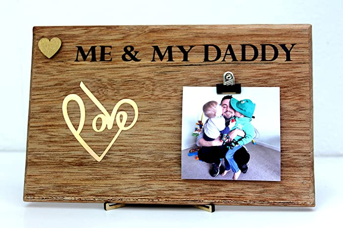 MadeAT94 - Personalised Presents Gifts For Daddy Dad Father From Son Daughter Newborn Toddler Photo Frame: Amazon.co.uk: Handmade