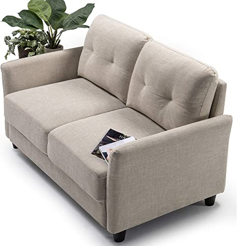 Zinus Ricardo Love Seats, Loveseat, Beige