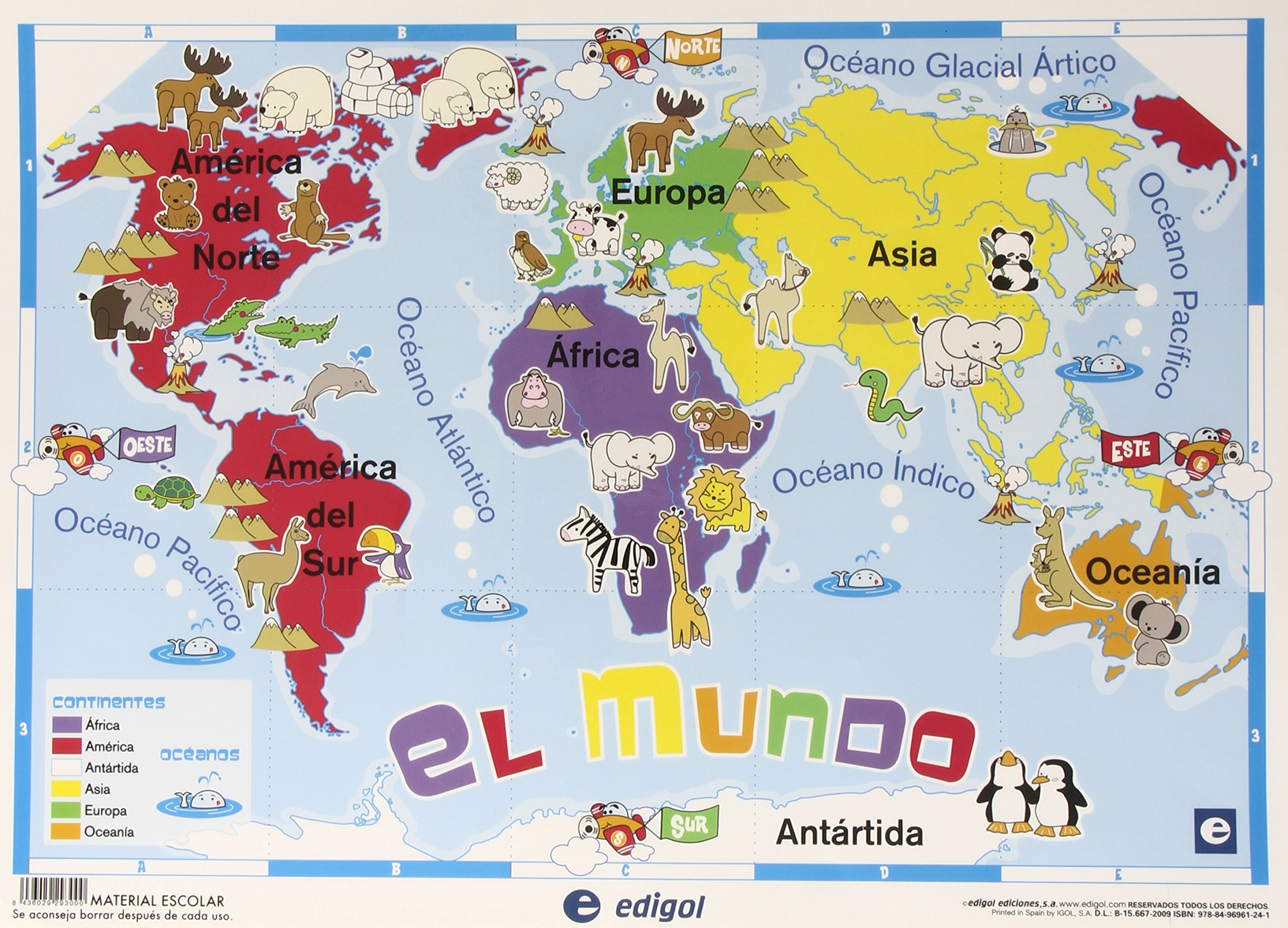 Worksheet. MAPA INFANTIL MAPAMUNDI SOBREMESA Amazoncouk 8436029293000