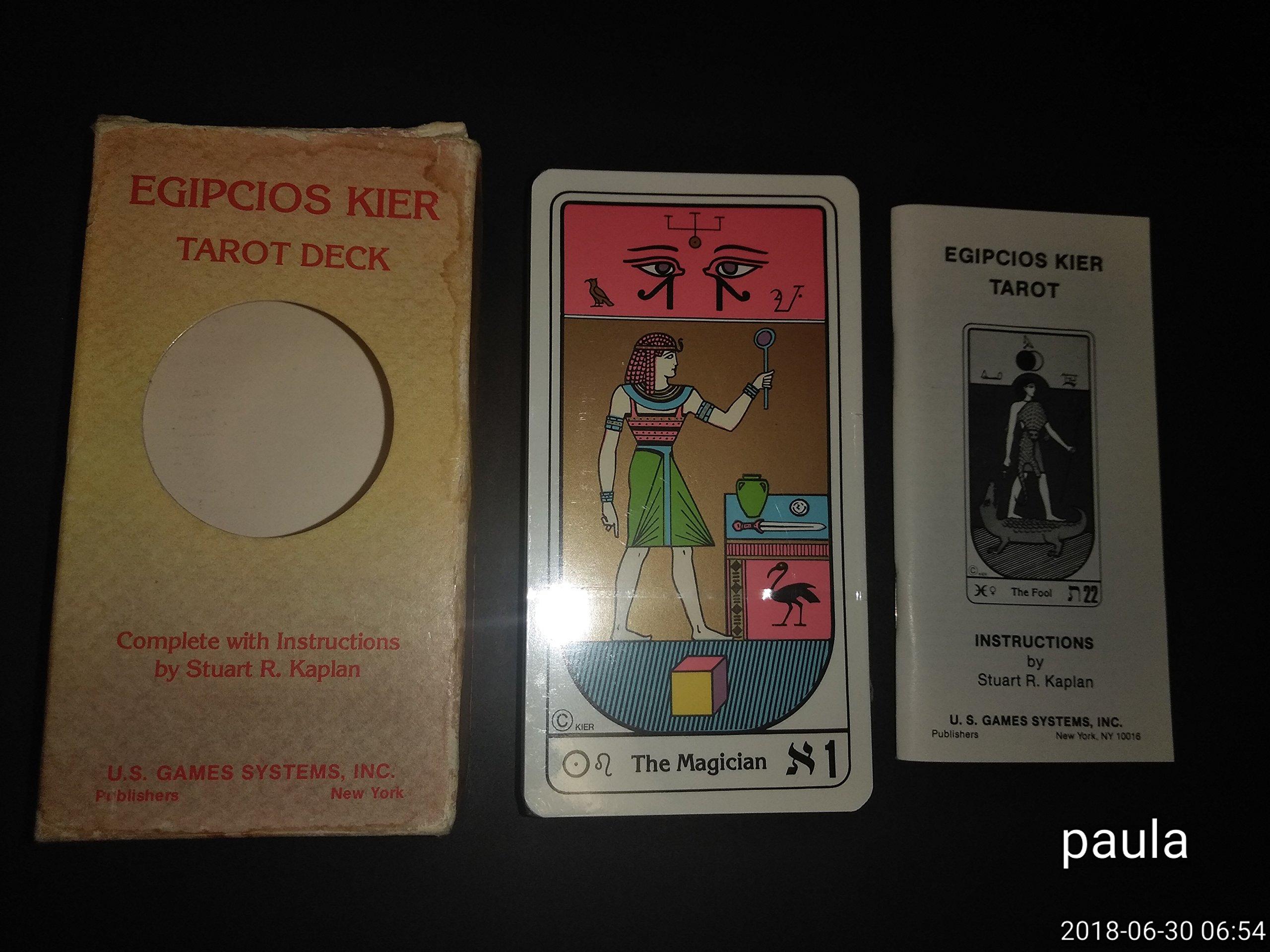 Egipcios Kier Tarot Deck: Amazon.es: Libros en idiomas ...