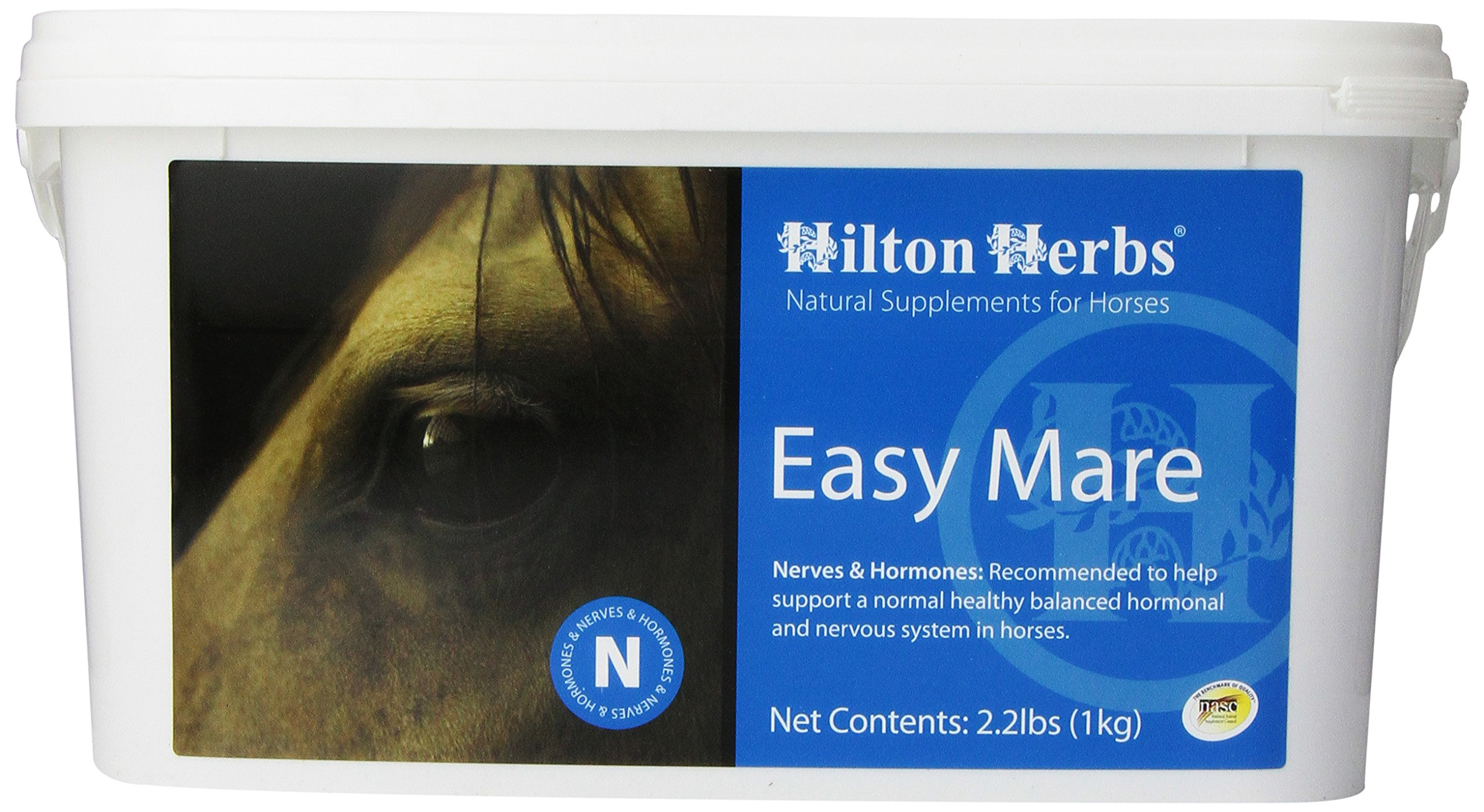 Hilton Herbs Easy Mare Herbal Hormone Balancing Supplement for Horses, 1kg Tub by Hilton Herbs