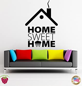 com wall vinyl stickers quotes words home sweet home cool