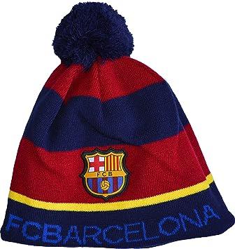 73259b2b9cf32 Bonnet pompon BARCA - collection officielle supporter FC Barcelone Barcelona  - Football Liga Espagne  Amazon.co.uk  Sports   Outdoors