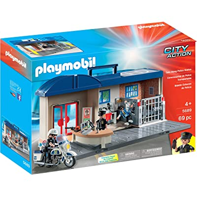 PLAYMOBIL Take Along Police Station: Toys & Games