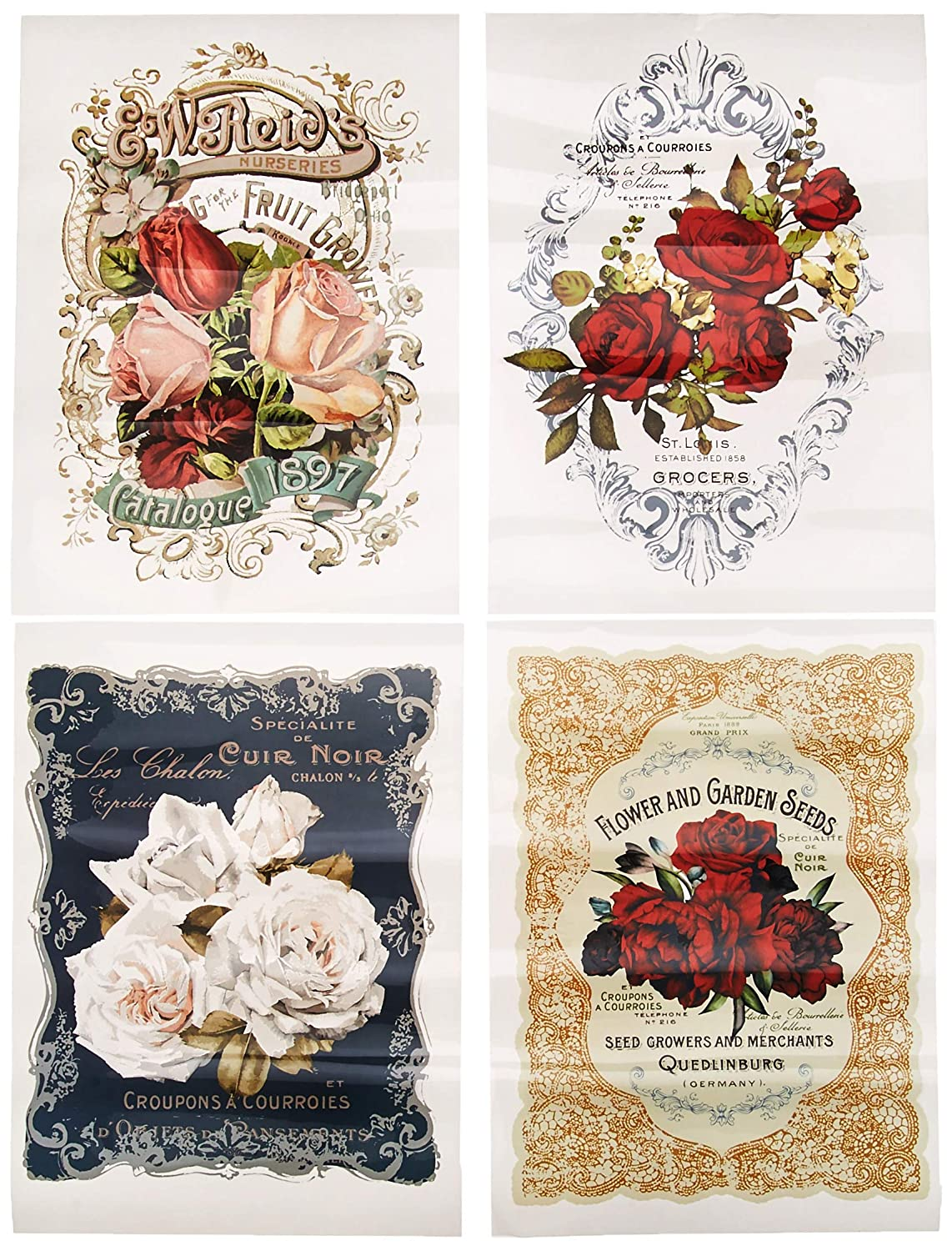 Prima Marketing Inc Redesign Transfer - Wild Roses Mixed