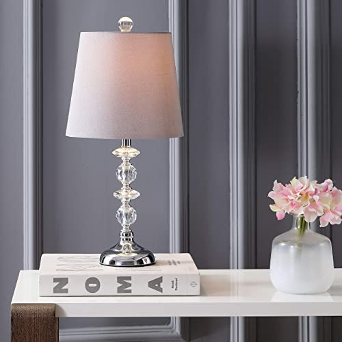 Safavieh MLT4002A Lighting Collection Lucena Grey Shade and Clear Base Table Lamp