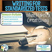 Standardized Writing Test Strategies / How to Write for Standardized Tests - Resource Lesson - Activity with PowerPoint, Wor