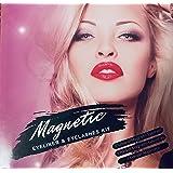 Magnetic Eyeliner and Eyelashes Kit, Magnetic Eyelashes with Eyeliner, False Lashes 5 Pairs with Tweezers, Easy to Wear