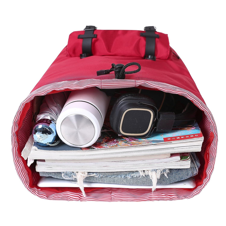 Bagail Large Vintage Canvas Backpacks Travel Laptop College School Bags Grey