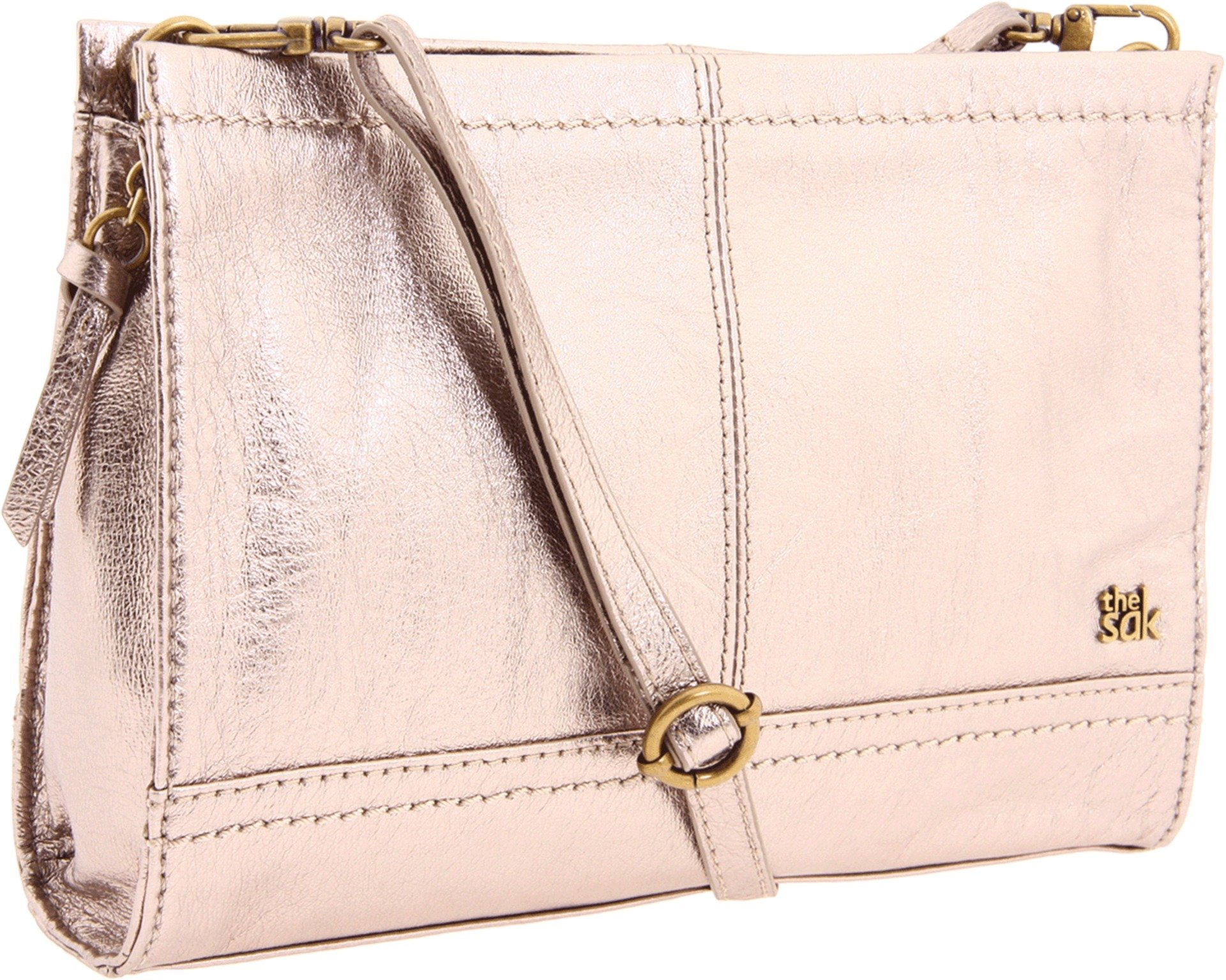 The SAK Iris Demi Clutch Handbag,Pyrite Metallic,One Size