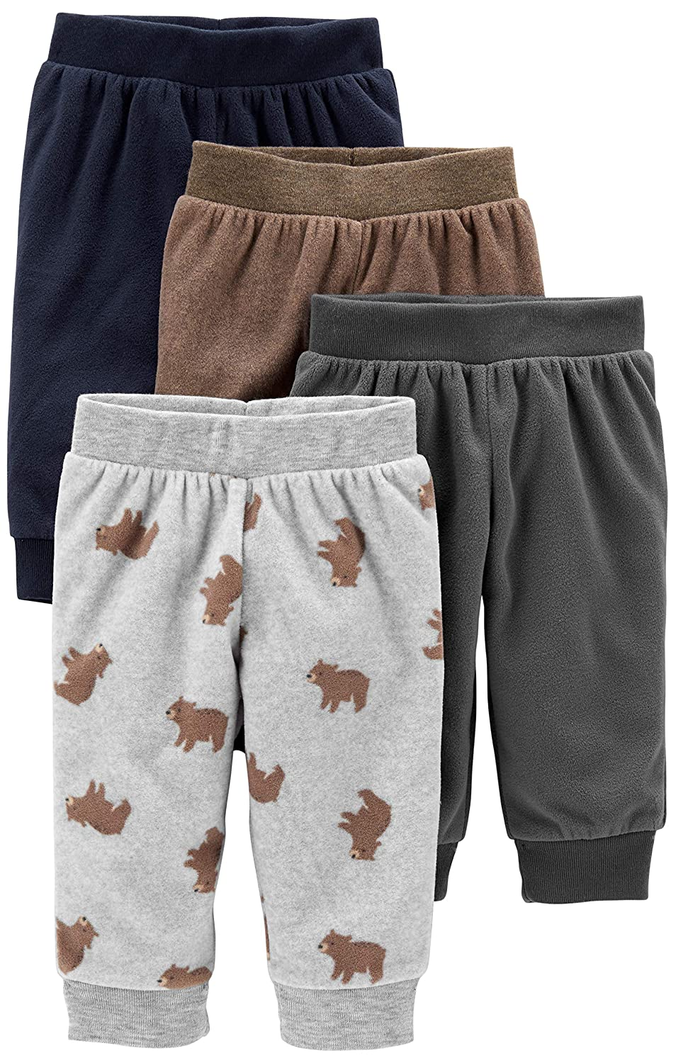 4er-Pack Simple Joys by Carters Baby-Jungen 4-Pack Fleece Pants