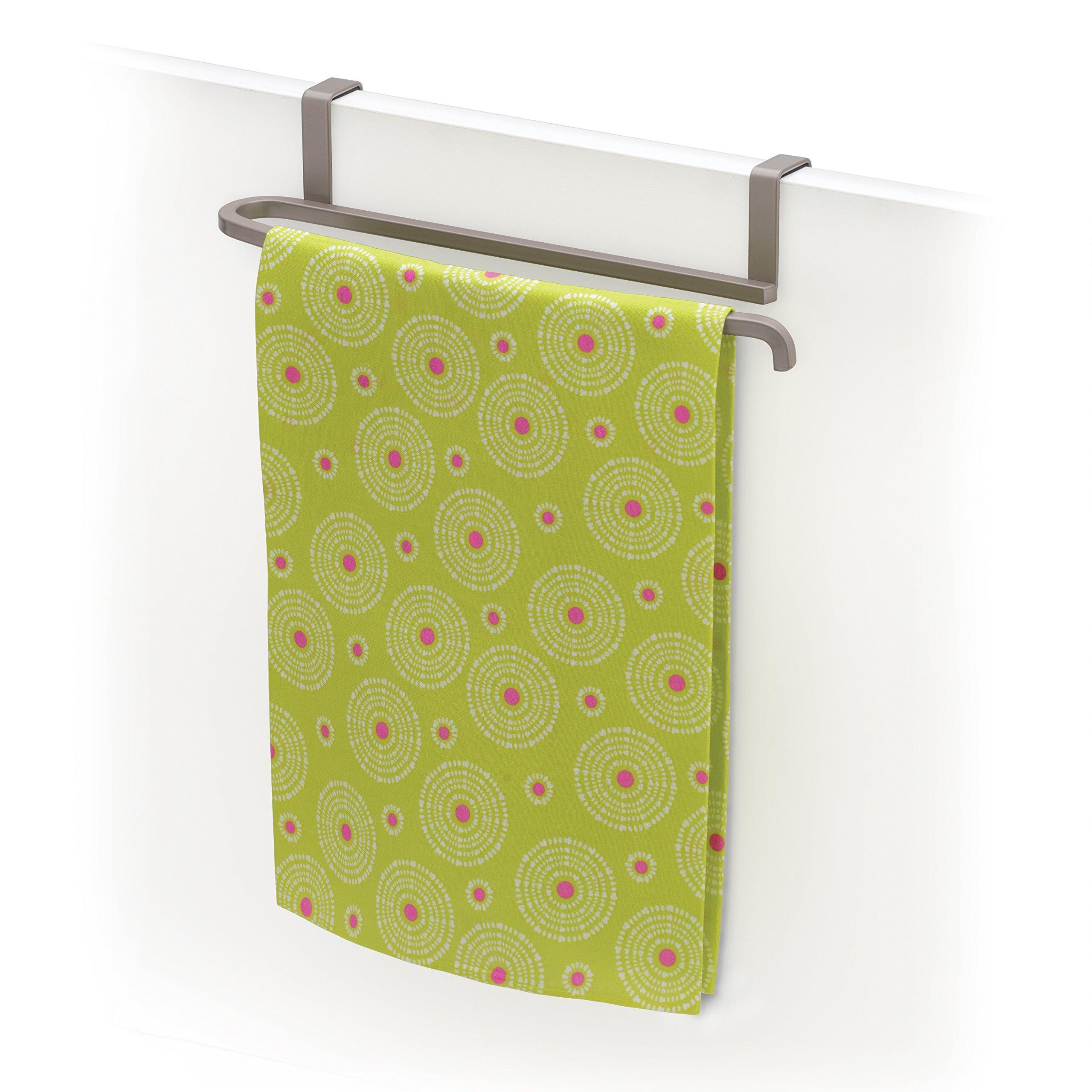 Lynk Over Cabinet/Door Towel Bar, Satin Nickel